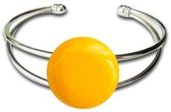 1a2dfa95b9 Tervezz-ékszert. hu - Online ékszertervezés Üvegékszer karkötő fém alapon  (sárga)