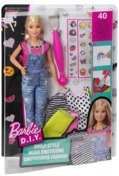 Mattel Barbie D.I.Y. - Emoji Style ruhatervező baba (DYN93/DYN92)