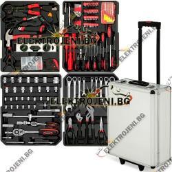Комплект инструменти 187 части в куфар (g2)