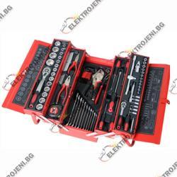 Инструменти в метална кутия 85 бр. (g9)