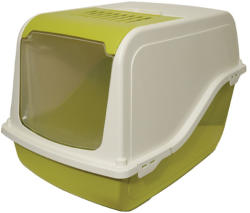 M. P. Bergamo - Италия / Italy M. P. Bergamo Ariel Top Free - закрита котешка тоалетна с лопатка 57 / 39 / 38 см. / сива, зелена, розова / (stef 31.04 M. P. Bergamo Ariel Top Free - 57-39-38см)