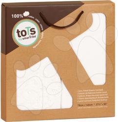 toTs Cearşaf cu elastic pentru pat bebe toTs-smarTrike cu flori 2 bucăţi bumbac 100% prespălat (TO140406)