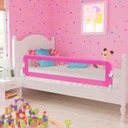 vidaXL Ограничител за бебешко легло, 150x42 см, розов (10102)