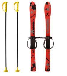 MASTER Детски ски + щеки master 90 см, червен