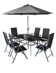 Hecht Shadow Set 6 személyes fémvázas kerti bútor garnitúra
