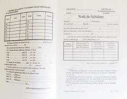 Nota de lichidare, format A5, orientare portret, 100 file (NOTLI)