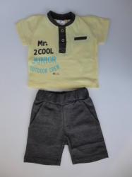 Marty Kids Комплект с къси панталонки в тъмно сиво, 74, 80, 86