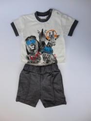 Marty Kids Комплект къси панталонки и блузка с животни, 68, 74, 80, 92