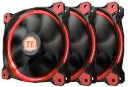 Thermaltake Riing LED 12 High Static Pressure LED 120mm 3 Pack (CL-F055-PL12)