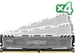 Crucial Ballistix Sport 64GB (4x16GB) DDR4 2666MHz BLS4C16G4D26BFSB