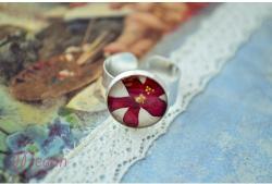 """Megan Flower Life Малък пръстен """"Червена върбинка"""