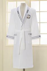 Soft Cotton MARINE luxus férfi fürdőköpeny ajándákcsomagolásban XL Fehér / White