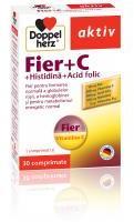 Doppelherz Fier +vitamina c +histidina +acid folic 30cpr DOPPEL HERZ