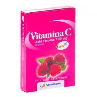 Amniocen Vitamina c junior, cu aroma de zmeura 20tbl AMNIOCEN