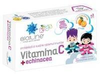 Bio Sun Line Vitamina c + echinacea, pentru copii 30cpr BIO SUN LINE