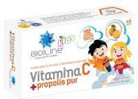 Bio Sun Line Vitamina c + propolis pur, pentru copii 30cpr BIO SUN LINE