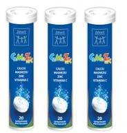 Zdrovit Calciu, magneziu, zinc + vitamina c efervescente 20cpr ZDROVIT