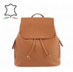 Made in Italy Olasz bőr hátizsák Donata - barna