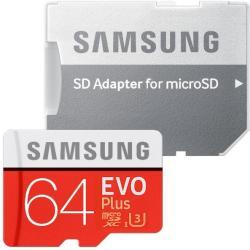 Samsung MicroSDXC EVO Plus 64GB UHS-I U3 MB-MC64GA/EU