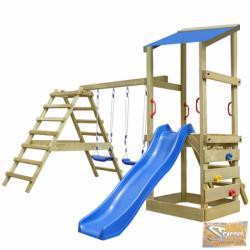 Vid fa játszótér létrával, csúszdával és hintákkal 356x255x235 cm