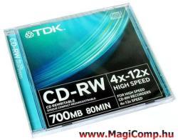 TDK CD-RW 700MB 12x