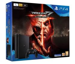 Sony PlayStation 4 Slim Jet Black 1TB (PS4 Slim 1TB) + Tekken 7 Deluxe Edition