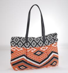 KBAS Geantă din stofă cu model aztec Kbas portocaliu