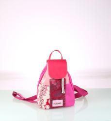 KBAS Rucsac pentru dame Kbas din pânză roz model patchwork 085703