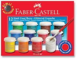 Faber-Castell Guase 12 Culori Metalizate 15ml Faber-castell