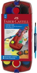 Faber-Castell Acuarele Connector Faber-castell 24 Culori / Cutie Plastic