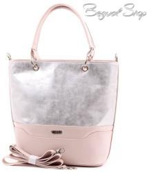 Via55 ezüst-púder rostbőr női táska (1249)