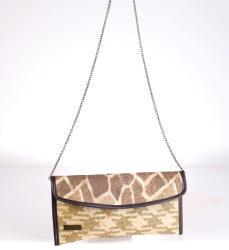 KBAS Poșetă tip plic Kbas din paie, model de girafă 085714