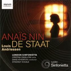Andriessen, L Anais Nin/de Staat
