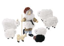 Goki Fa baba hajlítható végtagokkal, juhász bárányokkal
