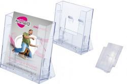 Prospektustartó Empen Envin, A5 műanyag, állítható asztali vagy fali