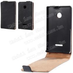 SLIM FLIP tok - lefelé nyíló, rejtett mágneses záródás - FEKETE - MICROSOFT Lumia 532 / Lumia 532 Dual SIM