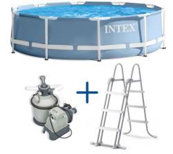 Intex Florida Prism fémvázas medence szett homokszűrővel és létrával 366x99cm (10340200)