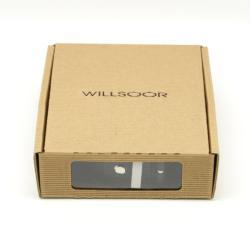 Willsoor pentru bărbați piele benzi Willsoor 7740 în negru culoare