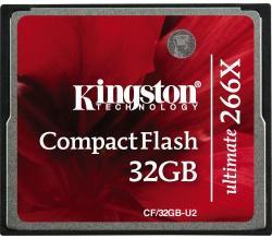 Kingston Compact Flash Ultimate 32GB 266x CF/32GB-U2