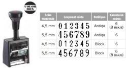 Reiner B6K sorszámozó (4, 5-5, 5mm-es számokkal)