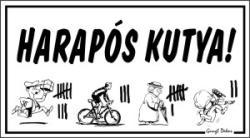Gungldekor Harapós kutya (strigulázós) humoros vicces tábla matrica