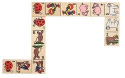 Goki Domino Animale in cutie de lemn (GOKIWG090) - ookee