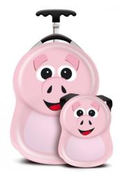 The Cuties and Pals Set Troler si Ghiozdan Pookie the Pig (CPPig)