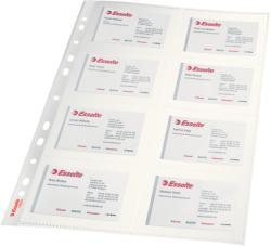ESSELTE Folie protectie A4 carti de vizita 105mic cristal 10 buc/set, ESSELTE