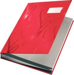 LEITZ Mapa pentru semnaturi cu 18 separatoare rosie, LEITZ Design
