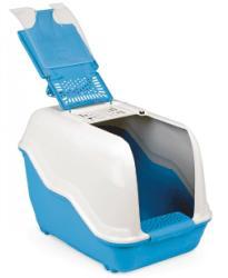ИТАЛИЯ - italy Напълно оборудвана закрита тоалетна за котки + филтър с активен въглен NETTA 060205 (jorko 060205 Напълно оборудвана закрита тоалетна за котки NETTA)