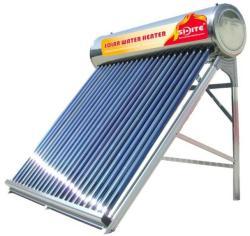 NEW ENERGY Nem nyomásálló inox tartályos napkollektor 300 literes 30 csöves átfolyós rendszerű, rozsdamentes tartály és keret (HMV_SD-S-30_INOX_TARTALYOS)