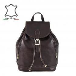 Made in Italy Olasz bőr hátizsák Zosima - sötétbarna