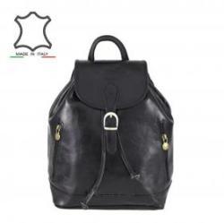 28 000 Ft Made in Italy Olasz bőr hátizsák Zosima - fekete 5cb7b552a2