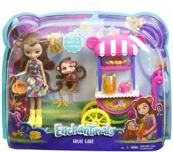 Mattel Enchantimals - Merit Monkey gyümölcsös kocsi játékszett (FCG93/FJH11)